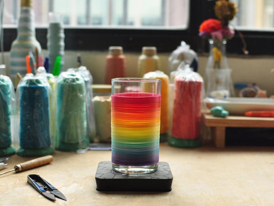 選物》透明上的無限色彩,彩虹線水杯 「一同驕傲」