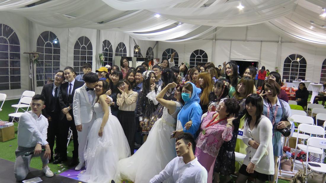 夫夫之道、FJ234彩虹證婚,同志新人MAJI集食行樂白色庭園婚禮許下承諾
