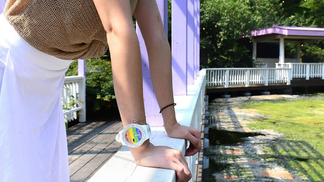 選物》讓世界的時間與LGBTQ 同步前進,RHIZ世界腕錶彩虹旗限定款