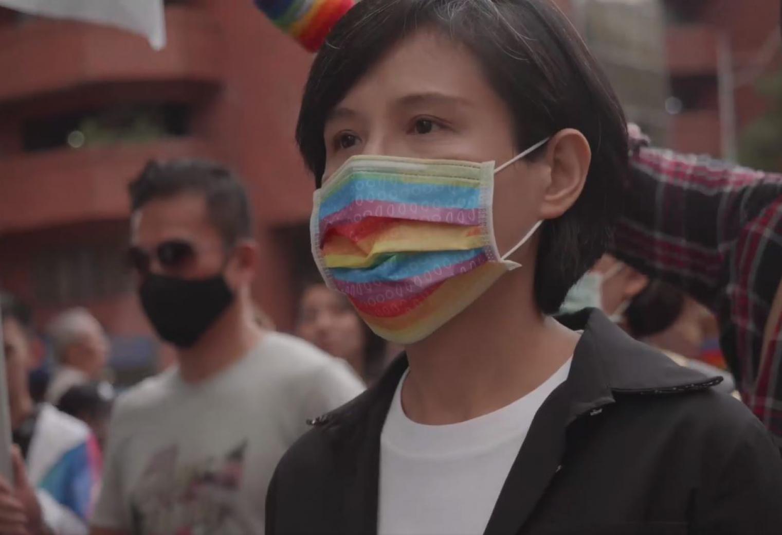 2020臺灣同志遊行超過13萬人響應,前文化部長鄭麗君向已故友人邱妙津說:「我們做到了!」