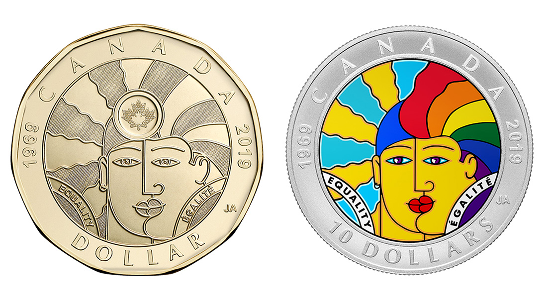 慶祝同性性行為除罪化50週年,加拿大發行限量「平等 」硬幣