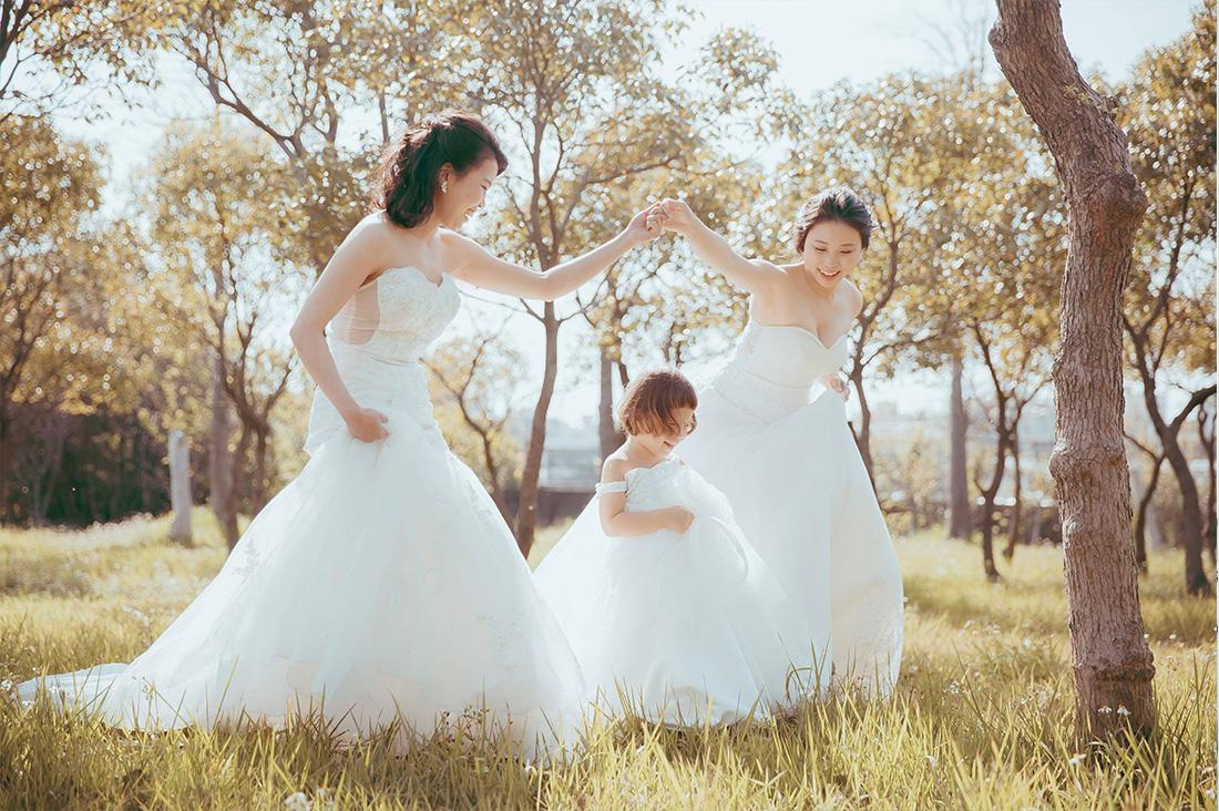 牽妳一輩子,三組女女婚紗祝有情人終成眷屬